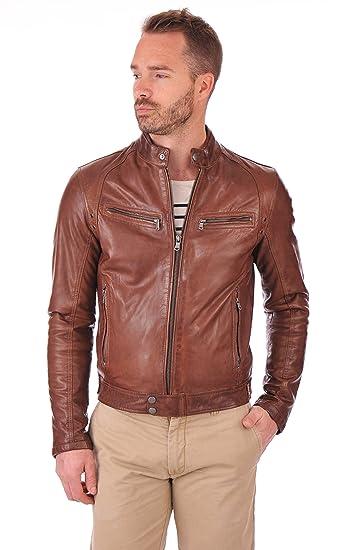 Fab Leather Men S Lambskin Leather Original Leather Bomber Biker