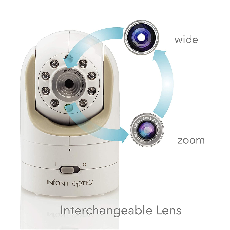 blanco//beige Monitor de beb/é Infant Optics DXR-8/Video con lentes /ópticas intercambiables