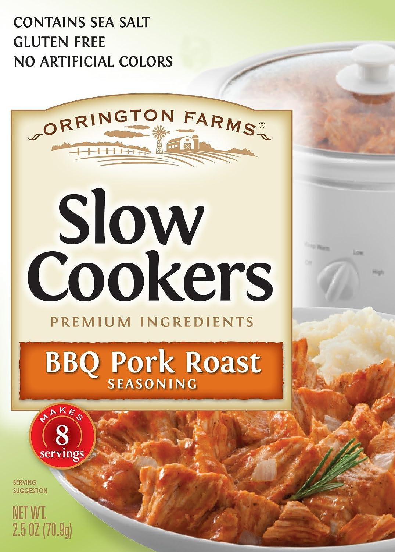 Orrington Farms Pork Roast Seasoning Slow Cooker Mix, BBQ, 2.5 Ounce (Pack of 12)