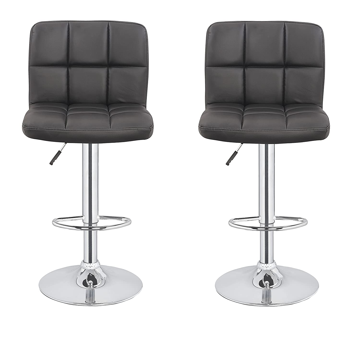 Unique Swivel Leather Bar Stools with Back