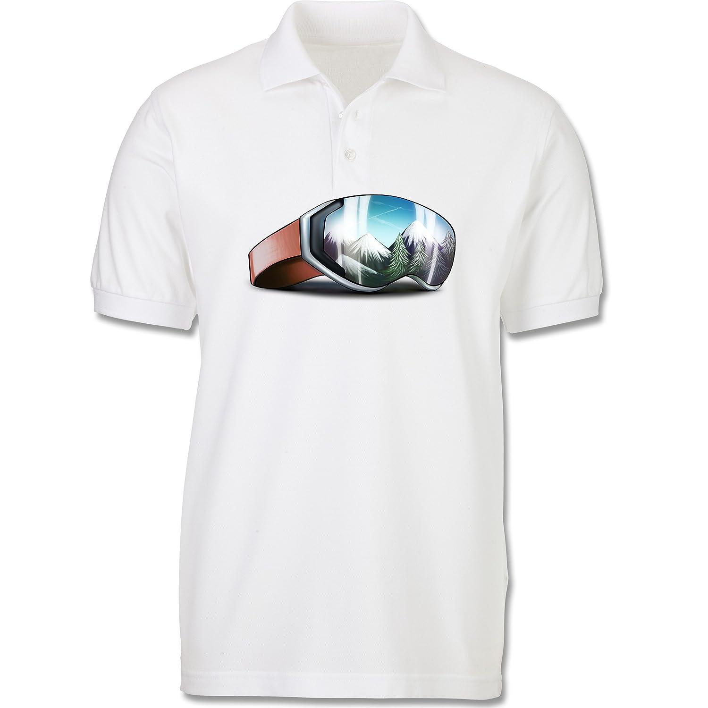 Sport Kind - Skibrille - Poloshirt kurzarm Piqué aus Baumwolle für Mädchen und Jungen
