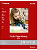 CanonInk Photo Paper Glossy Letter Size, 50 Sheets (8649B003)