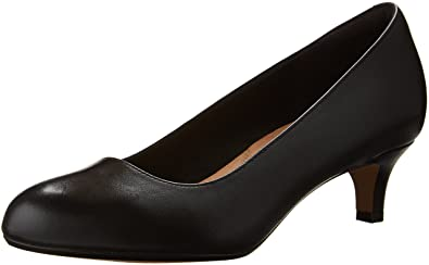CLARKS Women's Heavenly Shine Dress Pump, Black Leather, ...