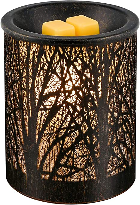 Sunpin Metal Wax Warmer Iron Art Black Owl Pattern Candle Warmer Ideal For Home Office Aromatherapy Beauty