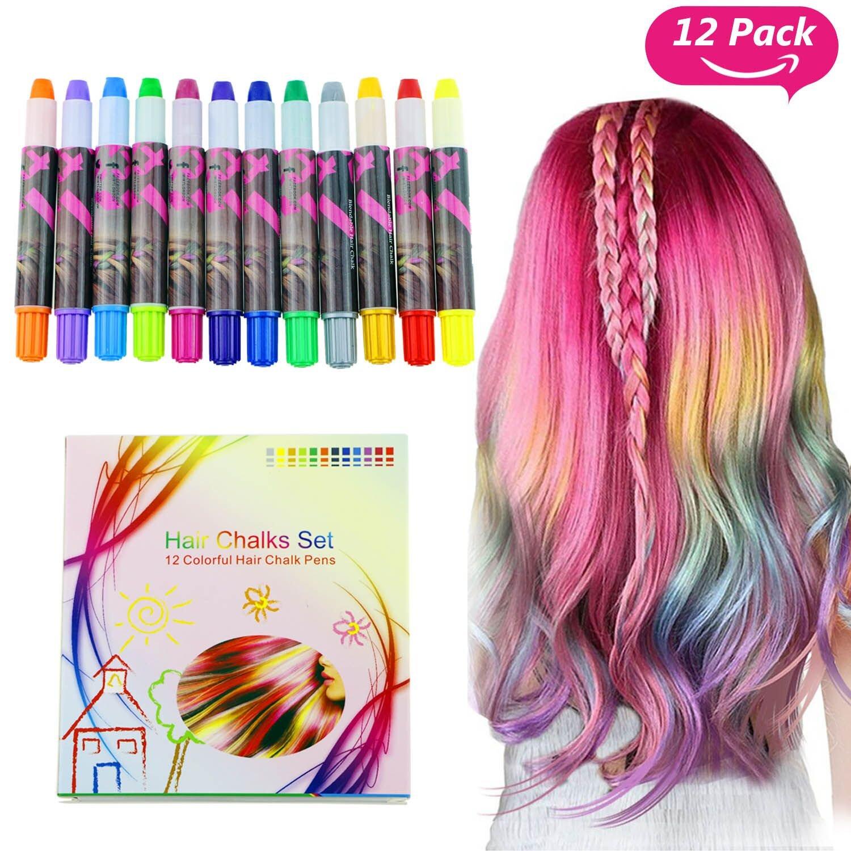 Buluri Pastel de pelo de 12 colores, Tinte para cabello...