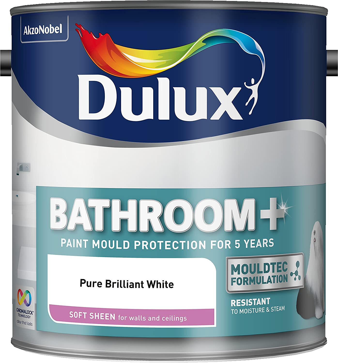 Do you need to use bathroom paint - Dulux Bathroom Plus Soft Sheen Paint 2 5 L Pure Brilliant White