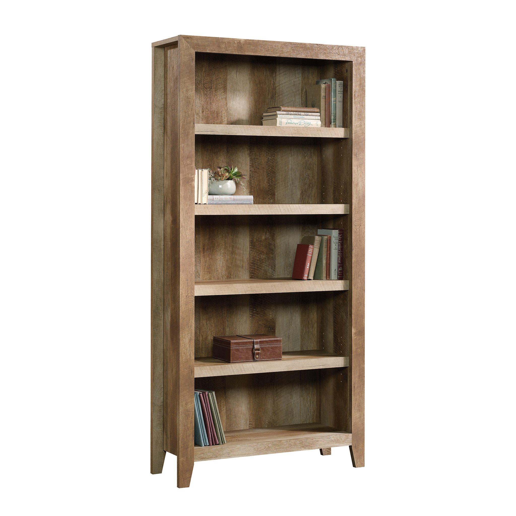 Sauder 418546 Dakota Pass 5-Shelf Bookcase, L: 33.78'' x W: 12.52'' x H: 71.1, Craftsman Oak finish by Sauder (Image #3)