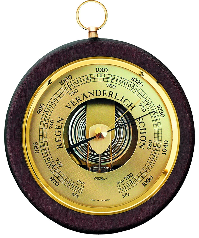 Fischer Barometer, Holz, Buche Natur, 30 x 17 x 30 cm