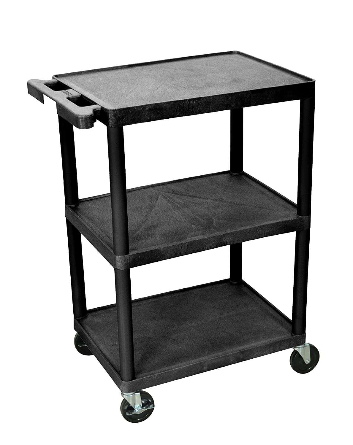LUXOR HE34-B Transport Cart with 3 Shelves