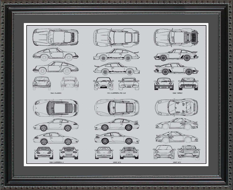 【最安値挑戦】 ポルシェ911 Blueprintコレクション車オート壁アートギフト Framed、20 x 20x24 24 20x24 Framed BP9112024 B00NB93GDA 20x24 Framed B00NB93GDA, スマホケースとデコの店 シーガル:02ef83a2 --- narvafouette.eu