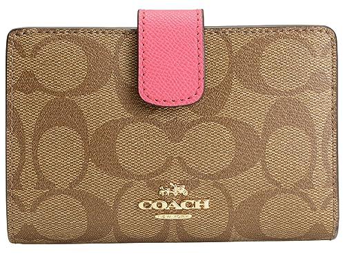 arrives 617e7 d601c Amazon | (コーチ) COACH 財布 二つ折り L字ファスナー カーキ ...