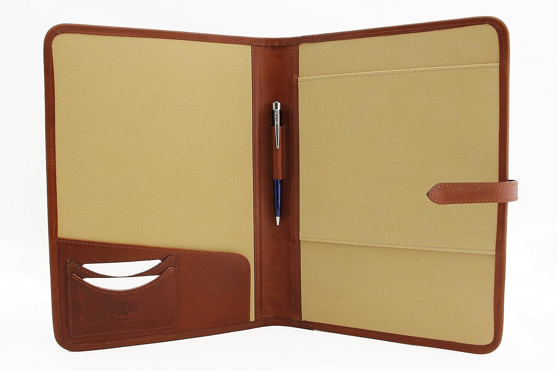 Business Folder with Pen Holder Tree Padfolio by SohoSpark 8.5x11 Letter-Size Document Organizer Designer Faux Leather Portfolio Resume Holder