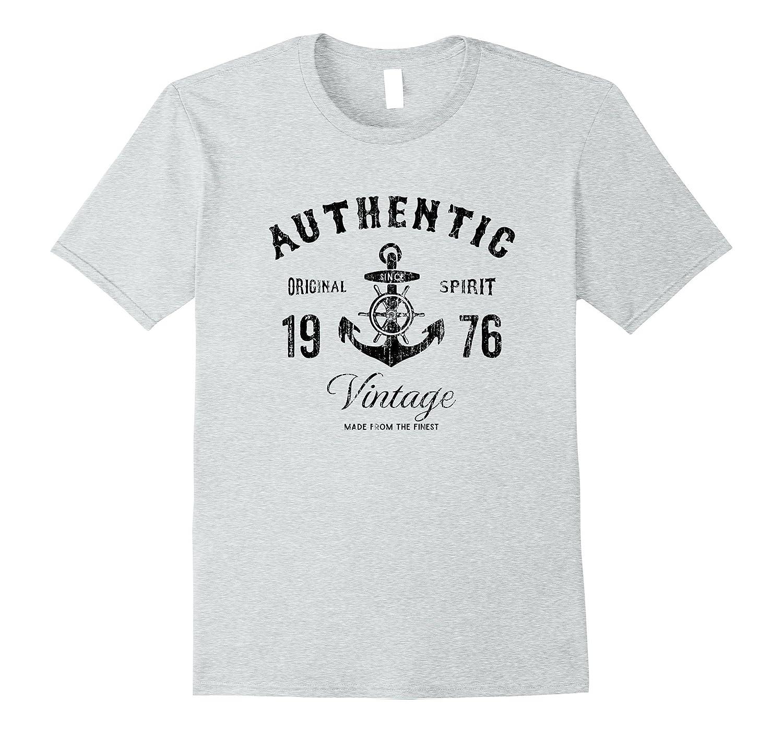 22216204 1976 Birthday Gift Vintage Anchor T-Shirt-T-Shirt – Managatee