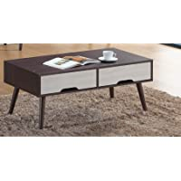 Maison Concept CF 3124 Wooden Center Table, Brown & White - H 550 mm x W 550 mm x D 1050 mm