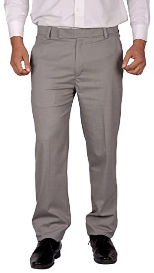 7541e6651fa04 Particle Formal Pants Trouser for Mens - Formal Pants Grey Grasim Fabric ( Sizes 30 –
