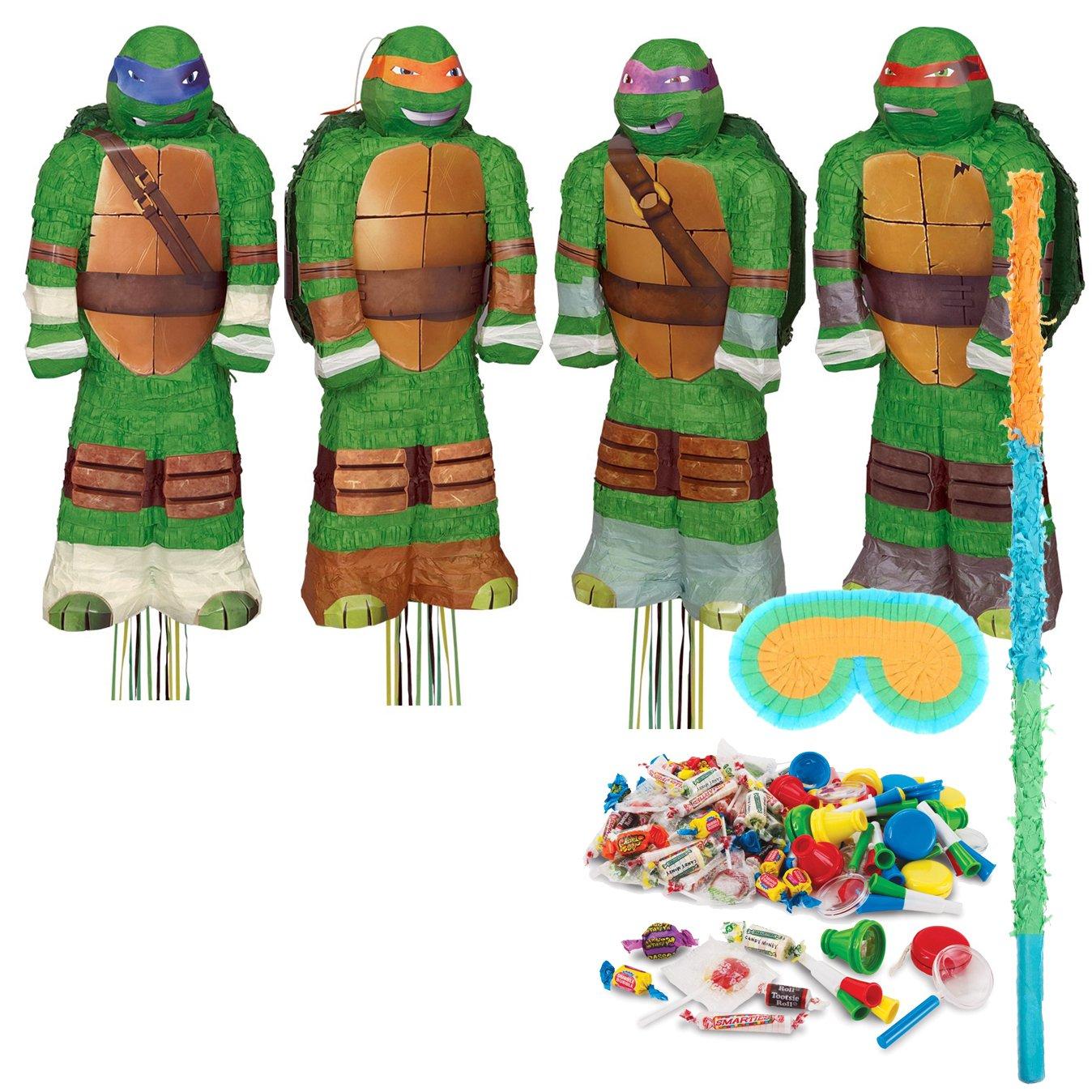 BirthdayExpress Teenage Mutant Ninja Turtles Party Supplies - Shaped Pinata Kit