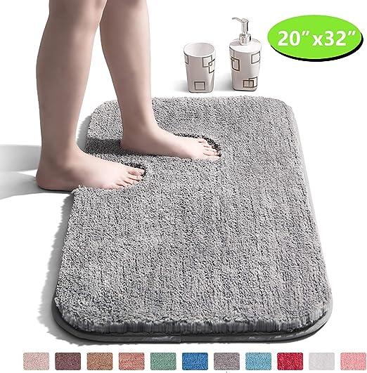 DEEP PILE Thick BATHROOM RUG Non Slip MACHINE WASHABLE Bath MAT Carpet Shower