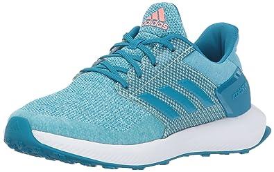 new concept f75ce 5a56f adidas Girls  Rapidarun Running Shoe, Energy Aqua Sun Glow Mystery Petrol,