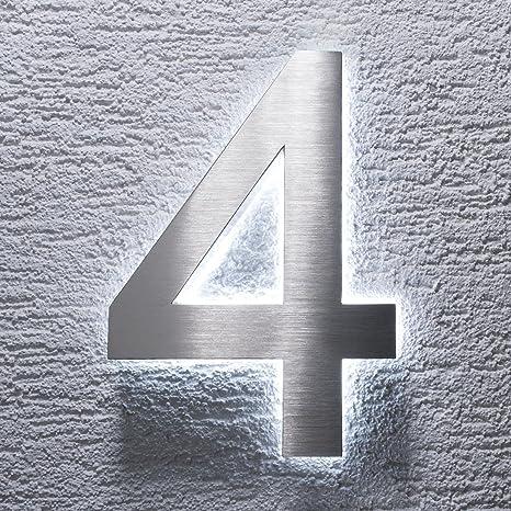 número de casa diseño elegante & letras de acero inoxidable ...