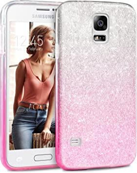 Coque Samsung Galaxy S5 /S5 NEO Paillette Pink Shading, TheBlingZ ...