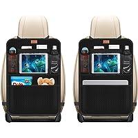 AEMIAO 2 - Pack Organizadores para Coche, Kick Mats de Coche, Universal Multi-Bolsillos Organizanizador, Funda Protección para Asientos Trasero de Coche Back con Soporte de iPad , niños accesorios