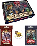 Hero Realms Card Game Bundle of Ruin of Thandar Campaign Deck, Dragon and Lich Boss Decks plus a Cool Treasure Chest Button