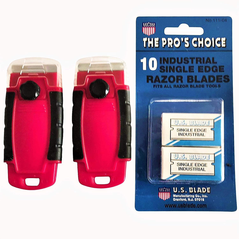Amazon.com: Razor Scraper Combo 2 Paquete con 10 cuchillas ...