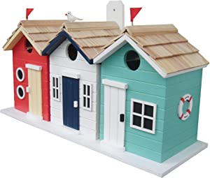Home Bazaar Hand-made Brighton Beach Huts Bird House - Eco Tough - Home Decor