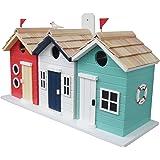 Home Bazaar Hand-made Brighton Beach Huts Bird House - Eco Tough - Home Decor