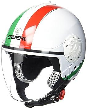 Caberg Casco Jet Riviera V3 Italia, negro/blanco/rojo, talla XS