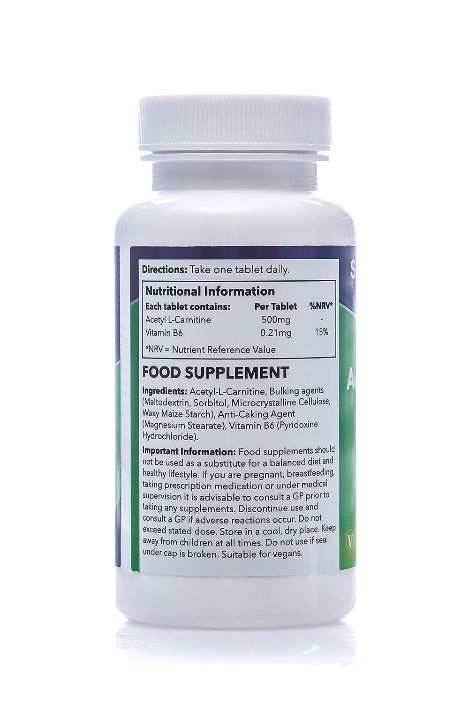 Acetil L-Carnitina 500mg - 60 Cápsulas - Suficiente para 2 meses - Conocido quema grasas - SimplySupplements: Amazon.es: Salud y cuidado personal