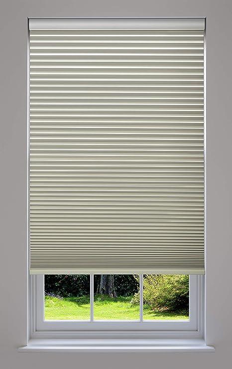Decor Avenue Custom Cordless 18 1//2 W x 30 to 36 H Harvest Light Filtering Cellular Shade Inside Mount