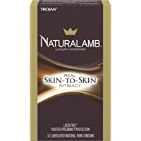 TROJAN NaturaLamb Luxury Lubricated Natural Skin Condoms 10 ea