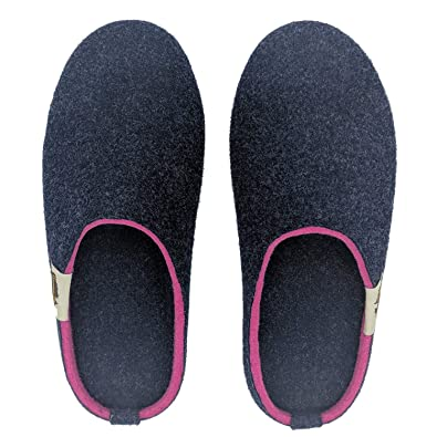 be47fae5bf00 Gumbies - Outback Slipper - Navy   Pink  Amazon.co.uk  Shoes   Bags