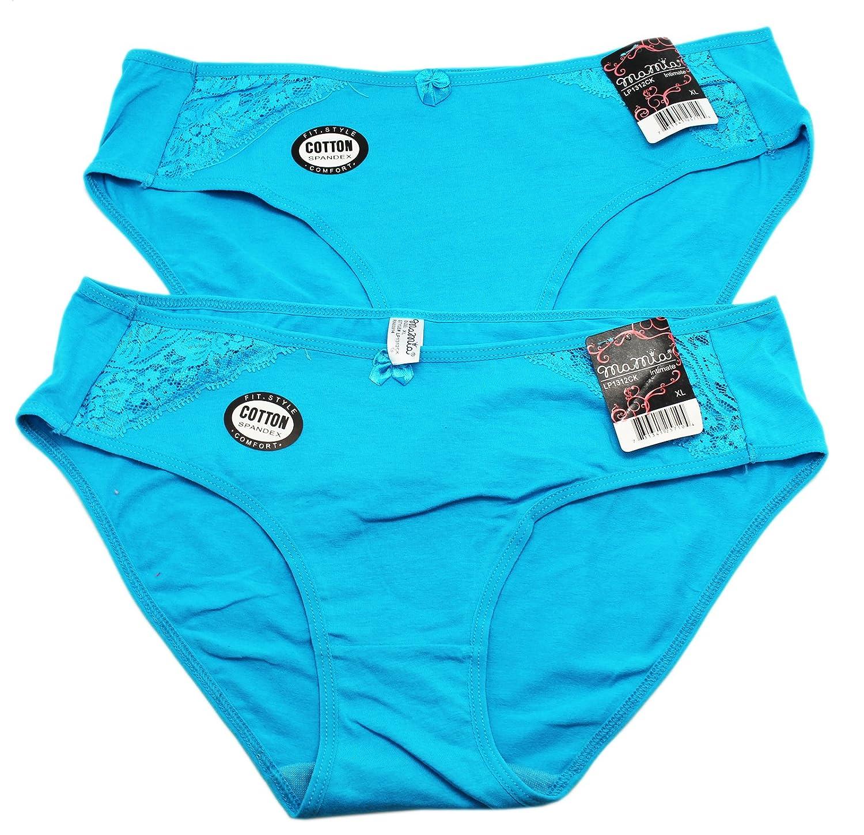 2 Pair Blue Bikini Style Underwear by Mamia Medium