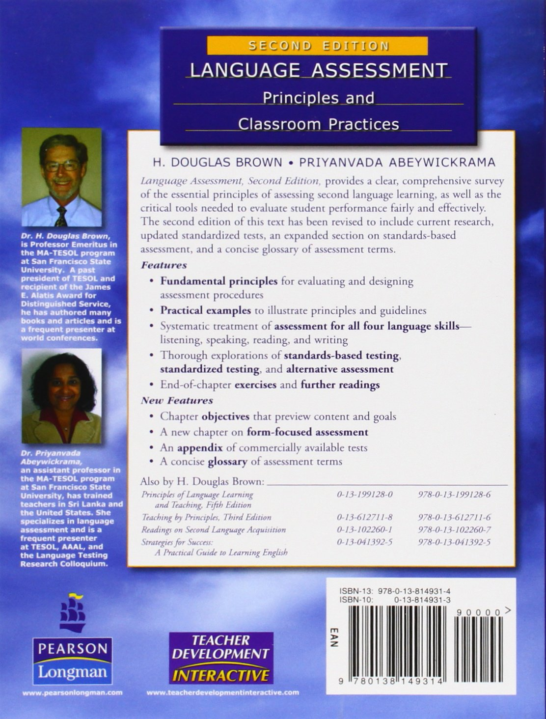 Language assessment principles and classroom practices livros na language assessment principles and classroom practices livros na amazon brasil 9780138149314 fandeluxe Gallery
