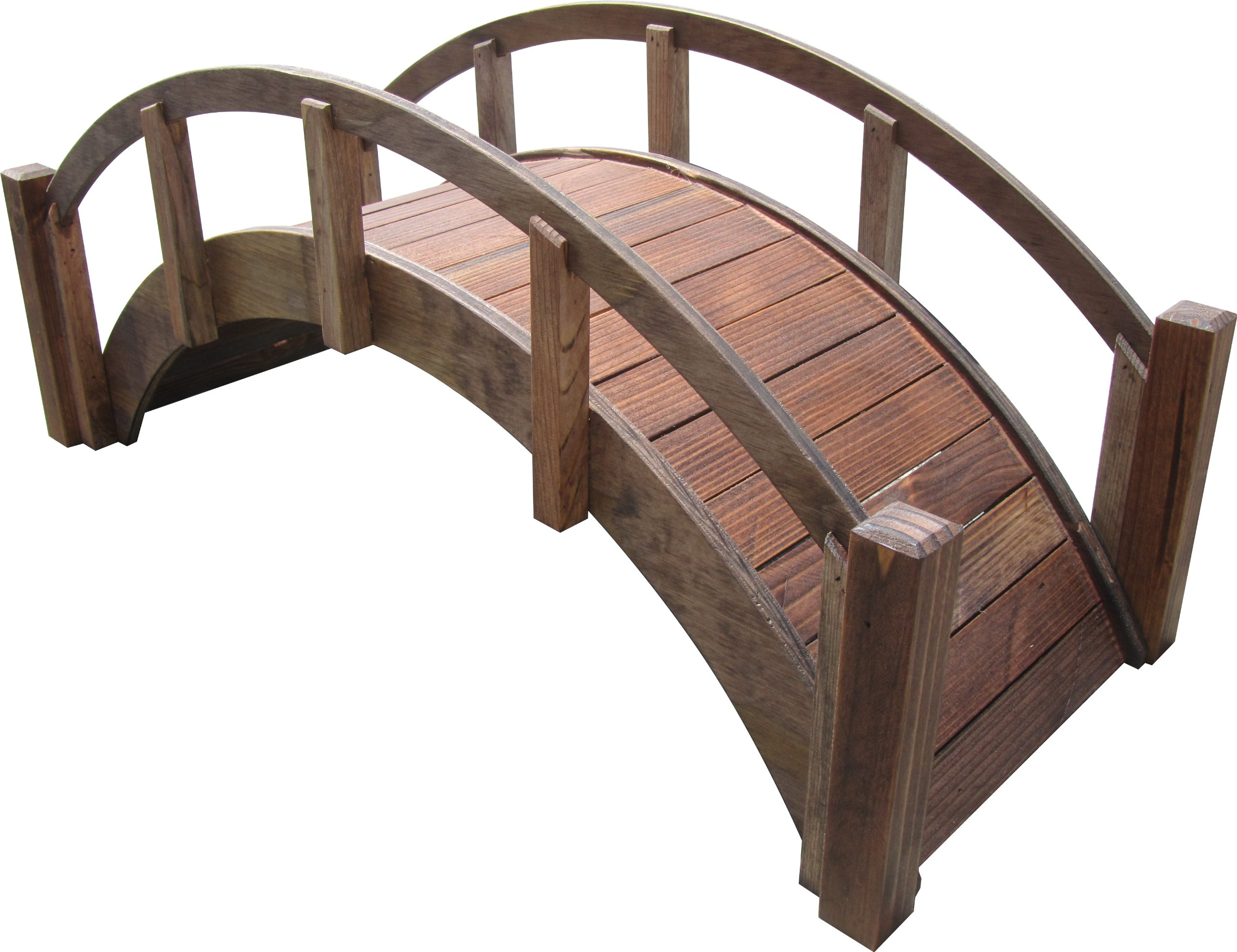 SamsGazebos Miniature Japanese Treated Wood Garden Bridge, 29-Inch, Brown by SamsGazebosTM