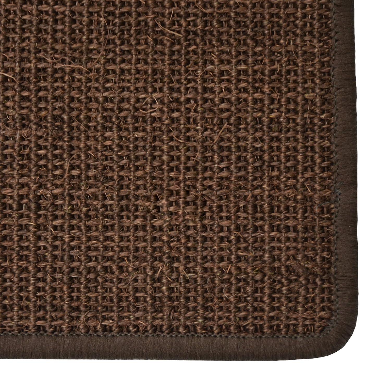 Pure Nature Sisal Stufenmatten Stück   15 Stück Stufenmatten Set   rechteckig, ohne Lippe, dunkelbraun c8a314