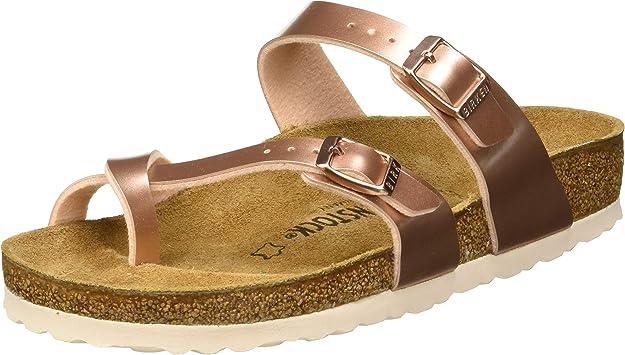 Sandalias para Mujer Doradas Cuero