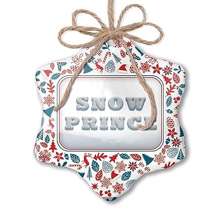 Prince Christmas Decorations.Amazon Com Neonblond Christmas Ornament Snow Prince Snow