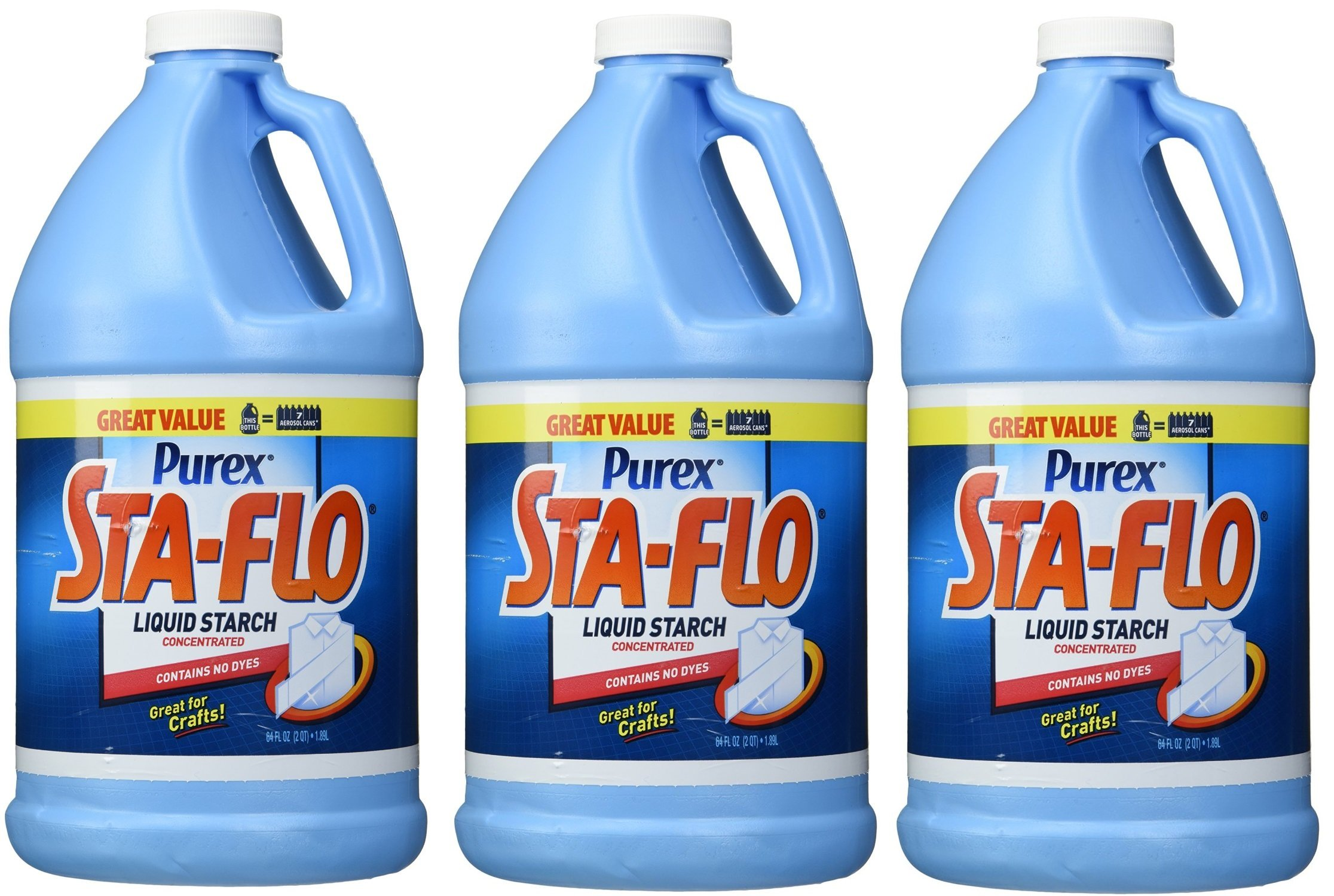 Purex Sta-Flo Liquid WLUNt Starch, 64 Ounce 3 Pack fpdLI