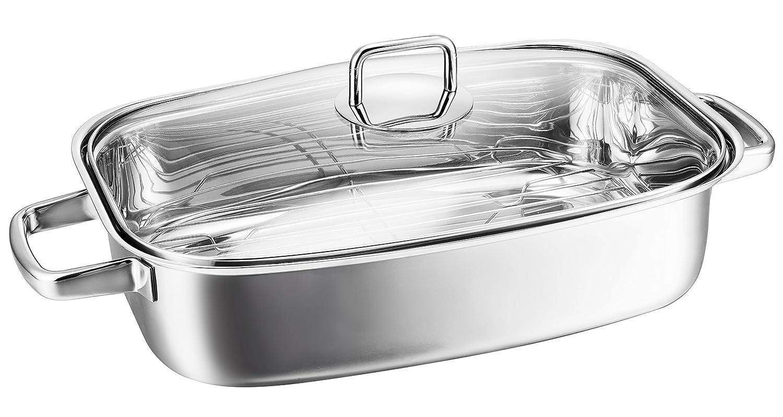 Kopf Hekla Roasting Tin, Induction, Stainless Steel, 36 x 24 cm, 6.2 Litre