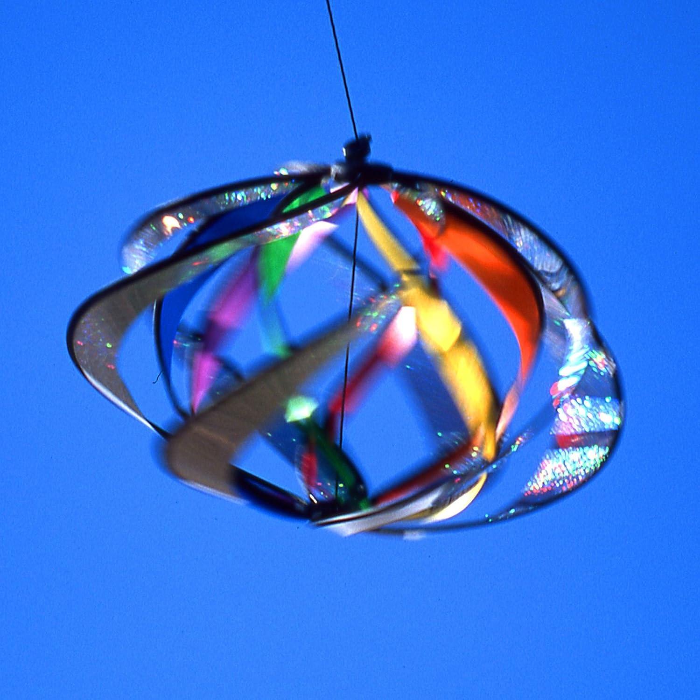 Doble Galaxy para colgar al aire libre viento Spinner