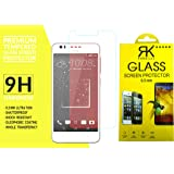 HTC Desire 825 Tempered Glass, 9H Hardness Ultra Clear, Anti-Scratch, Bubble Free, Anti-Fingerprints & Oil Stains Coating (For HTC Desire 825)