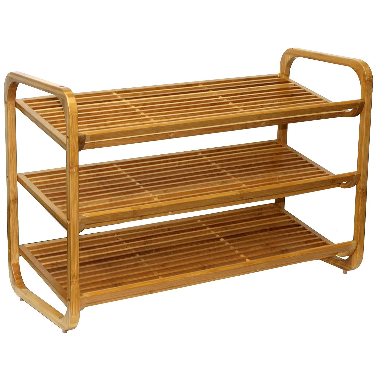 bench tier entryway organizing shelf in songmics top best rack bamboo shoe storage
