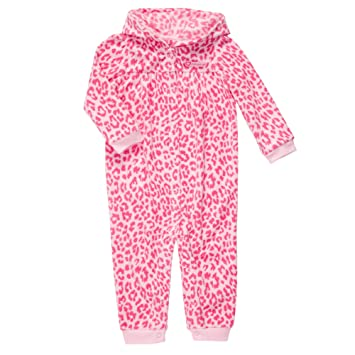c9a8c9c07e Image Unavailable. Image not available for. Color  Carter s Girls Hooded  Microfleece Jumpsuit(18Mos)