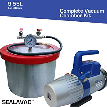 Melko Vakuumkammer 17L Edelstahl 28CM Entgasungskammer Harzfalle Vacuum Chamber