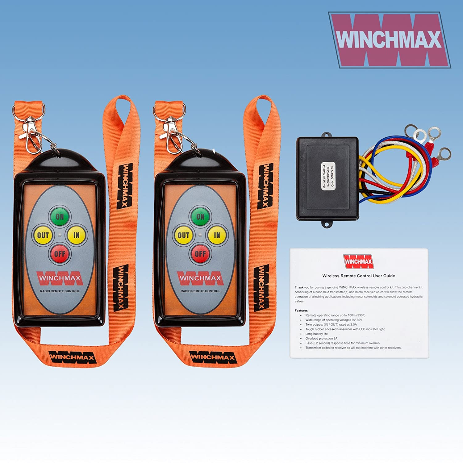 Winchmax WINCH REMOTE WIRELESS TWIN HANDSET*12 VOLT or 24 VOLT