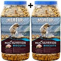 Meat Up Chicken Flavour , Real Chicken Biscuit, Dog Treats -500g Jar ( Buy 1 Get 1 Free)