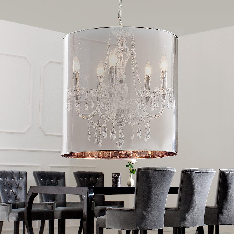 Lámpara de techo diseño de fantasmas transparencia cilindro ...
